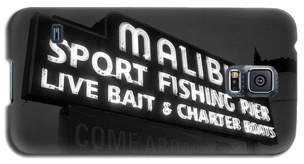 Malibu Pier Sign In Bw Galaxy S5 Case