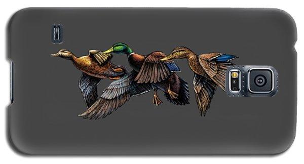 Mallard Ducks In Flight Galaxy S5 Case