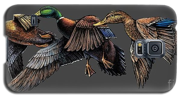Mallard Ducks In Flight Galaxy S5 Case