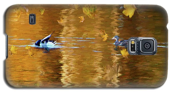 Mallard Ducks On Magnolia Pond - Painted Galaxy S5 Case