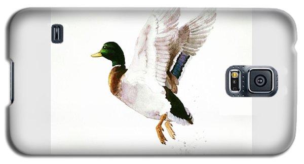 Mallard Flying Away Watercolor Galaxy S5 Case