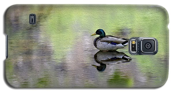 Galaxy S5 Case featuring the photograph Mallard In Mountain Water by Mark Myhaver