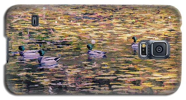 Mallards On Autumn Pond Galaxy S5 Case