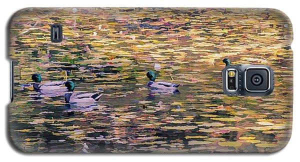 Mallards On Autumn Pond Galaxy S5 Case