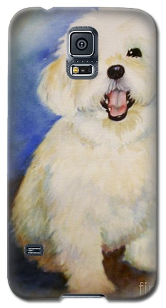 Galaxy S5 Case featuring the painting Maltese Named Ben by Marilyn Jacobson