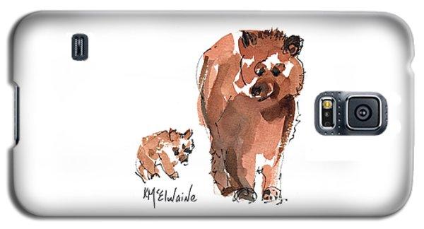Mama And Baby Series Bear Galaxy S5 Case