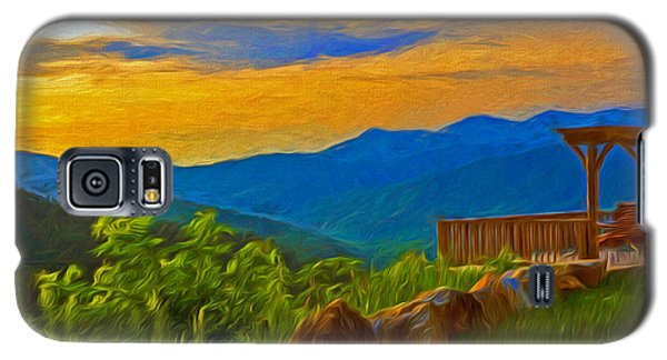 Blue Ridge Sunset From Mama Gertie's Hideaway Galaxy S5 Case
