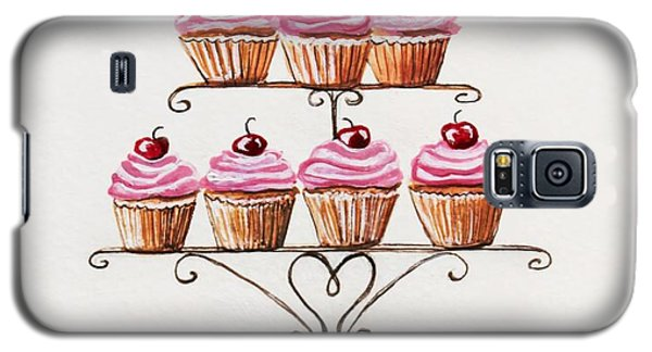 Mamie's Cupcakes Galaxy S5 Case by Elizabeth Robinette Tyndall