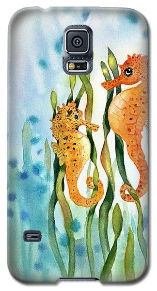 Mamma And Baby Seahorses Galaxy S5 Case
