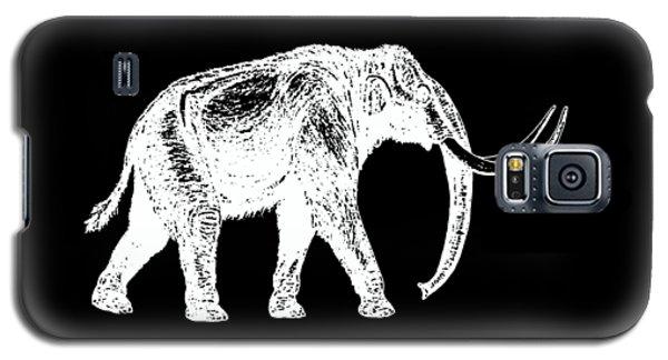 Mammoth White Ink Tee Galaxy S5 Case by Edward Fielding