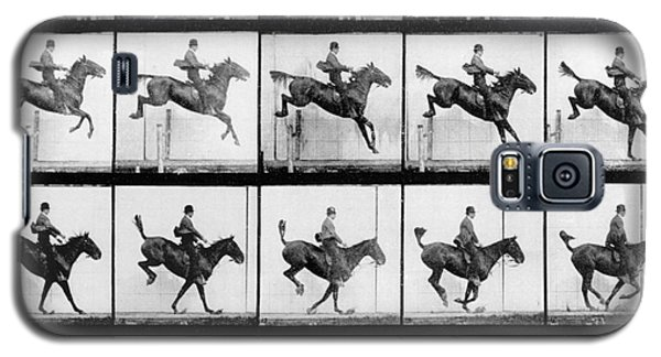 Man And Horse Jumping Galaxy S5 Case by Eadweard Muybridge