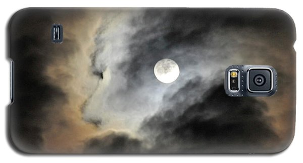 Galaxy S5 Case featuring the photograph Man And Moon by Cindy Lee Longhini