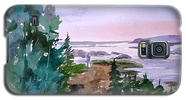 Man At Fraser Lake Bc Galaxy S5 Case