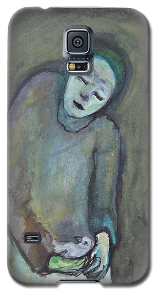 Man Holding Bird Galaxy S5 Case