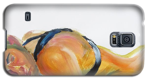 Galaxy S5 Case featuring the painting Man In Harness Sleeping by Shungaboy X