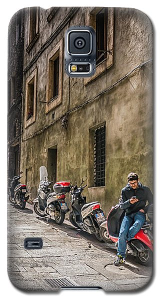 Man On A Scooter Siena-style Galaxy S5 Case