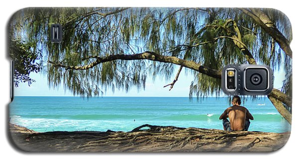 Man Relaxing At The Beach Galaxy S5 Case