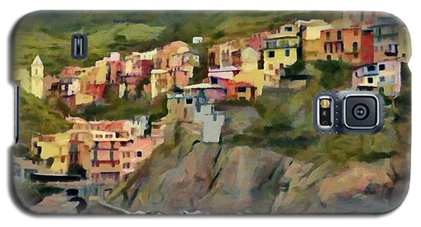 Galaxy S5 Case featuring the painting Manarola by Jeff Kolker