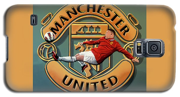 Manchester United Painting Galaxy S5 Case by Paul Meijering