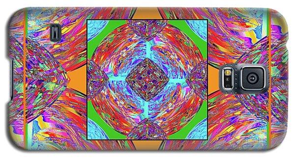 Galaxy S5 Case featuring the digital art Mandala #1 by Loko Suederdiek