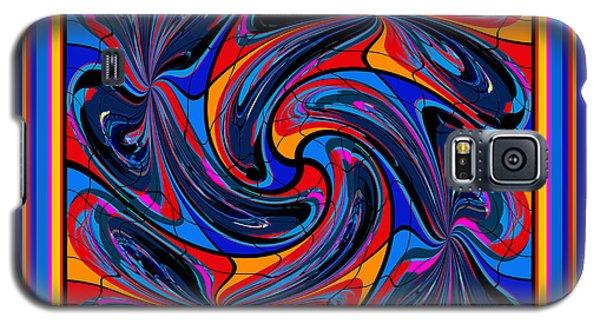 Galaxy S5 Case featuring the digital art Mandala #3 by Loko Suederdiek