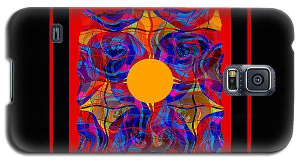 Galaxy S5 Case featuring the digital art Mandala #5 by Loko Suederdiek
