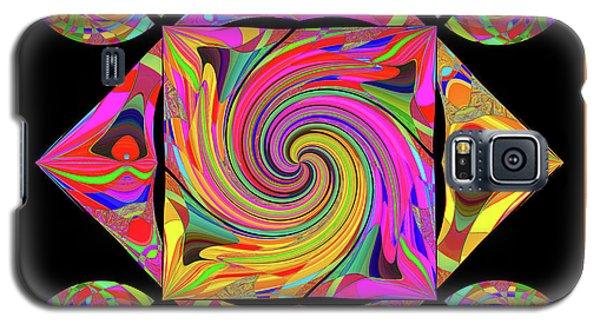 Galaxy S5 Case featuring the digital art Mandala #50 by Loko Suederdiek