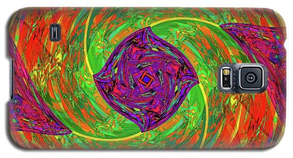 Galaxy S5 Case featuring the digital art Mandala #55 by Loko Suederdiek