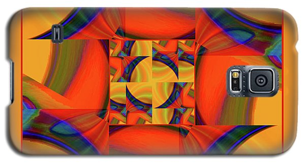 Galaxy S5 Case featuring the digital art Mandala #56 by Loko Suederdiek