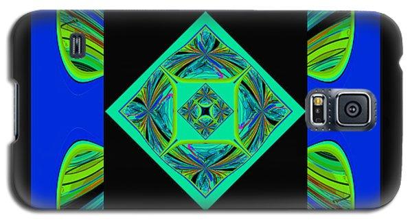 Galaxy S5 Case featuring the digital art Mandala #6 by Loko Suederdiek