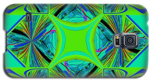 Galaxy S5 Case featuring the digital art Mandala #7 by Loko Suederdiek