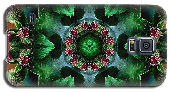 Mandala Bull Thistle Galaxy S5 Case