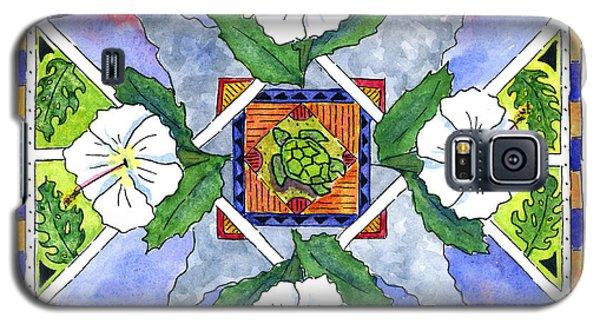 Mandala IIi - White Hibiscus Galaxy S5 Case