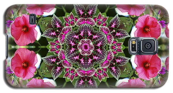 Galaxy S5 Case featuring the digital art Mandala Pink Patron by Nancy Griswold