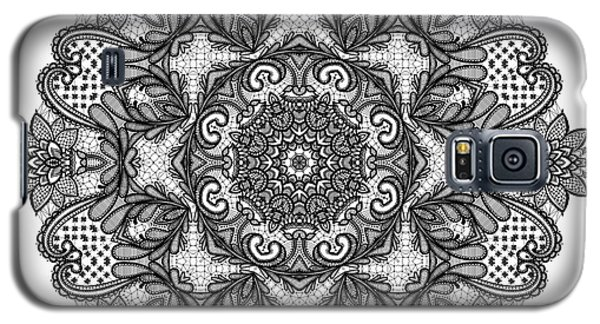 Galaxy S5 Case featuring the digital art Mandala To Color 2 by Mo T