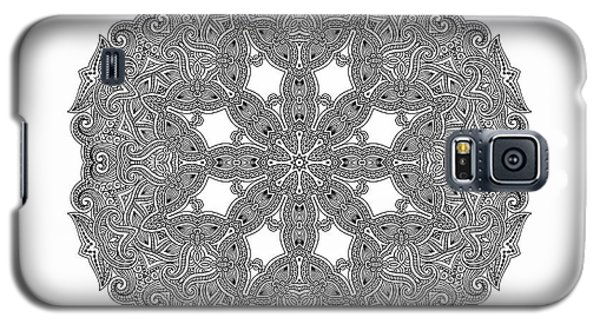 Galaxy S5 Case featuring the digital art Mandala To Color by Mo T