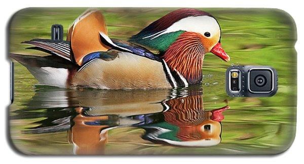 Galaxy S5 Case featuring the photograph Mandarin Duck by Ram Vasudev
