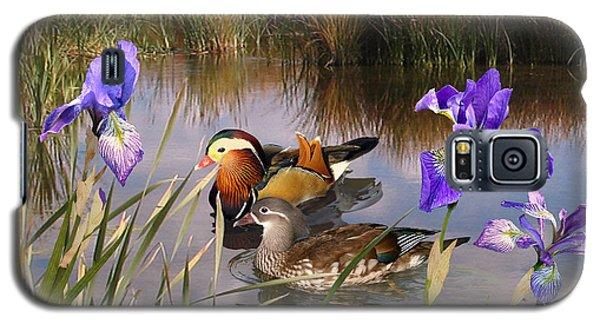 Mandarin Ducks And Wild Iris Galaxy S5 Case
