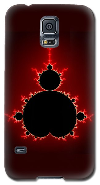 Mandelbrot Set Black And Red Square Format Galaxy S5 Case