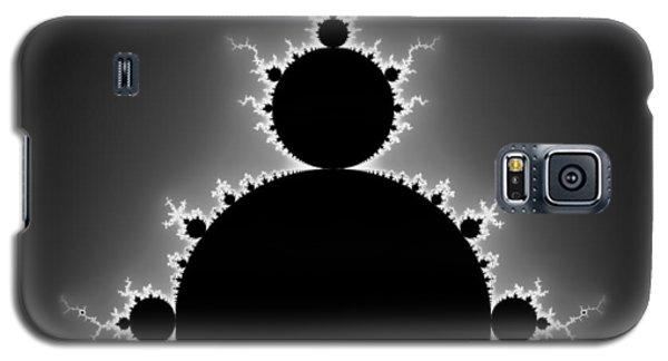 Mandelbrot Set Black And White Fractal Art Galaxy S5 Case