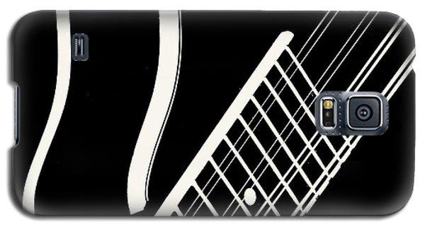 Galaxy S5 Case featuring the digital art Mandolin Close Bw by Jana Russon