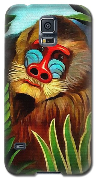 Mandrill In The Jungle Galaxy S5 Case