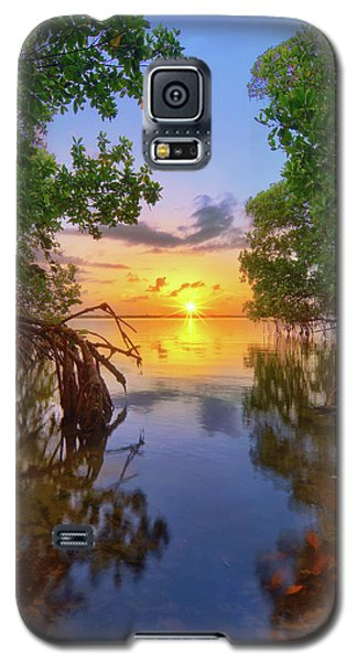 Mangrove Sunset From Jensen Beach Florida Galaxy S5 Case by Justin Kelefas