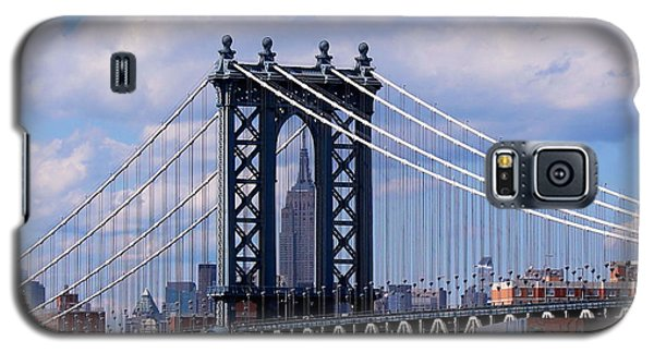 Manhattan Bridge Framing The Empire State Building Galaxy S5 Case