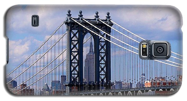 Manhattan Bridge Framing The Empire State Building Galaxy S5 Case