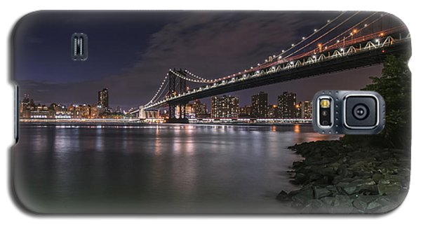 Manhattan Bridge Twinkles At Dusk Galaxy S5 Case
