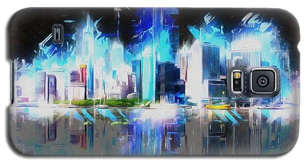Manhattan Downtown Lights Galaxy S5 Case by Kai Saarto
