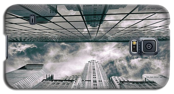 Galaxy S5 Case featuring the photograph Manhattan Reflections by Jessica Jenney