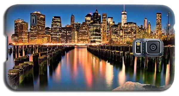 Manhattan Skyline At Dusk Galaxy S5 Case by Az Jackson