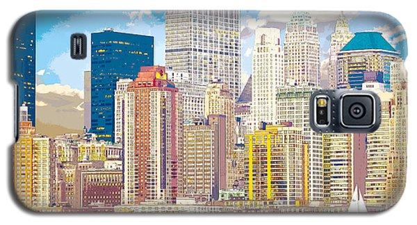 Manhattan Skyline New York City Galaxy S5 Case